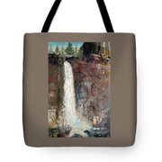 Over The Precipice Tote Bag