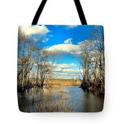 Over The Waters Tote Bag
