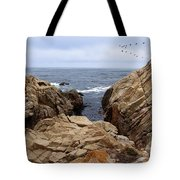 Overcast Day At Pebble Beach Tote Bag