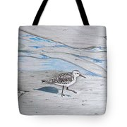 Overcast Day With Sanderlings Tote Bag