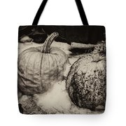 Overdue Fall Feast Remains Tote Bag