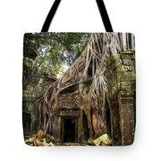 Overgrown Jungle Temple Tree  Tote Bag