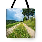 Overgrown Rural Path Up A Hill Tote Bag