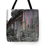Overgrown Shed B/w Tote Bag