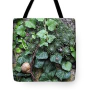 Overgrown Wall With Snail Tote Bag