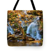 Overlooked Falls In The Porkies Tote Bag