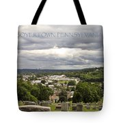 Overlooking Boyertown Tote Bag