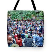 Overlooking The Asheville Drum Circle Tote Bag