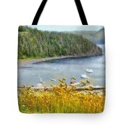 Overlooking The Harbor Tote Bag