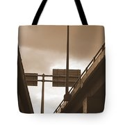 Overpass In Sepia Tote Bag