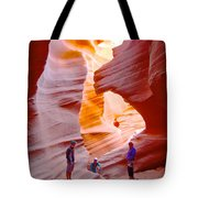 Overwhelmed In Lower Antelope Canyon-az Tote Bag