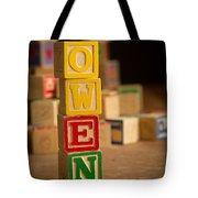 Owen - Alphabet Blocks Tote Bag