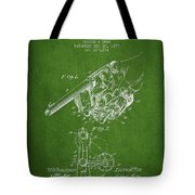 Owen Revolver Patent Drawing From 1899- Green Tote Bag