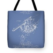 Owen Revolver Patent Drawing From 1899- Light Blue Tote Bag