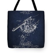 Owen Revolver Patent Drawing From 1899- Navy Blue Tote Bag