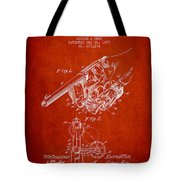 Owen Revolver Patent Drawing From 1899- Red Tote Bag