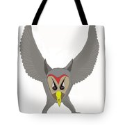 Owl Attacking Tote Bag