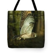 Owl In Flight Tote Bag