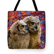 Owlets In Color Tote Bag