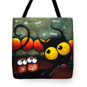 Owls In The Forest Tote Bag