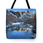 Owyhee River Reflection Desert Light Tote Bag