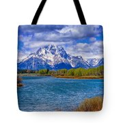 Oxbow Bend In Spring Tote Bag