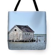 Oyster Shucking Shed Tote Bag