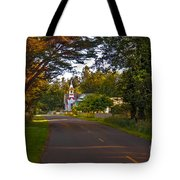 Oysterville Church Framed Tote Bag