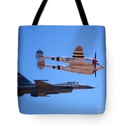 P-38 And Jet Tote Bag