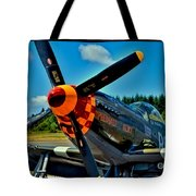 P-51 Mustang Tote Bag by David Patterson
