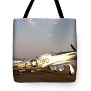 P-51 Mustang Fighter Aircraft Tote Bag