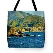 Pacific Coast Panorama Tote Bag by Benjamin Yeager