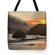 Pacific Fog And Fire Tote Bag by Adam Jewell