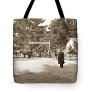 Pacific Grove Retreat Gate On Lighthouse At Grand Aves  With  O. J. Johnson Circa 1880 Tote Bag