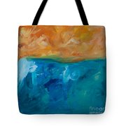 Pacific Isle Sunset Tote Bag