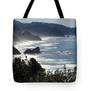 Pacific Mist Tote Bag by Karen Wiles