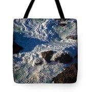 Pacific Ocean Against Rocks Tote Bag