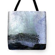 Pacific Ocean Wave Splash Tote Bag