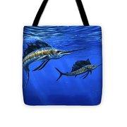 Pacific Sailfish Tote Bag