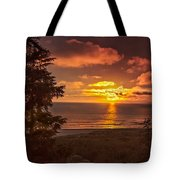 Pacific Sunset Tote Bag by Robert Bales