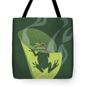 Pacific Tree Frog In Skunk Cabbage Tote Bag