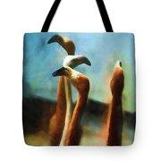 Pack Of Pelicans Tote Bag