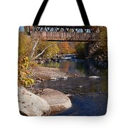 Packard Hill Bridge Lebanon New Hampshire Tote Bag by Edward Fielding