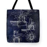 Packard Hood Ornament Blue Tote Bag