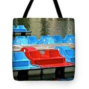 Paddle Boats Tote Bag