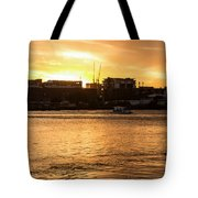 Paddle By The Sunset Tote Bag