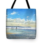 Paddling At The Edge Tote Bag