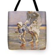 Paddling Tote Bag by William Kay Blacklock