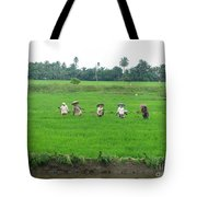 Paddy Field Workers Tote Bag