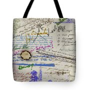 Page From The Madwoman's Notebook Tote Bag